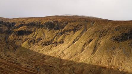 Wild terrain of the Jock's Road pass, Scotland.