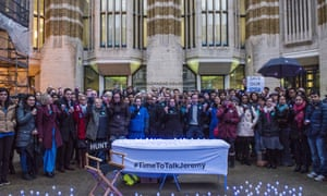 Junior doctors holding a protest outside the department of health.