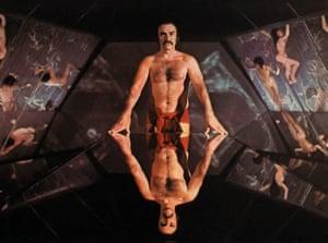In John Boorman's surrealist 1974 science fantasy Zardoz, Connery's second post-Bond role