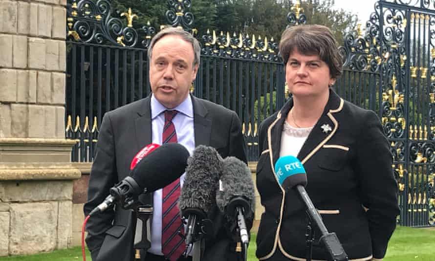 DUP leaders Nigel Dodds and Arlene Foster
