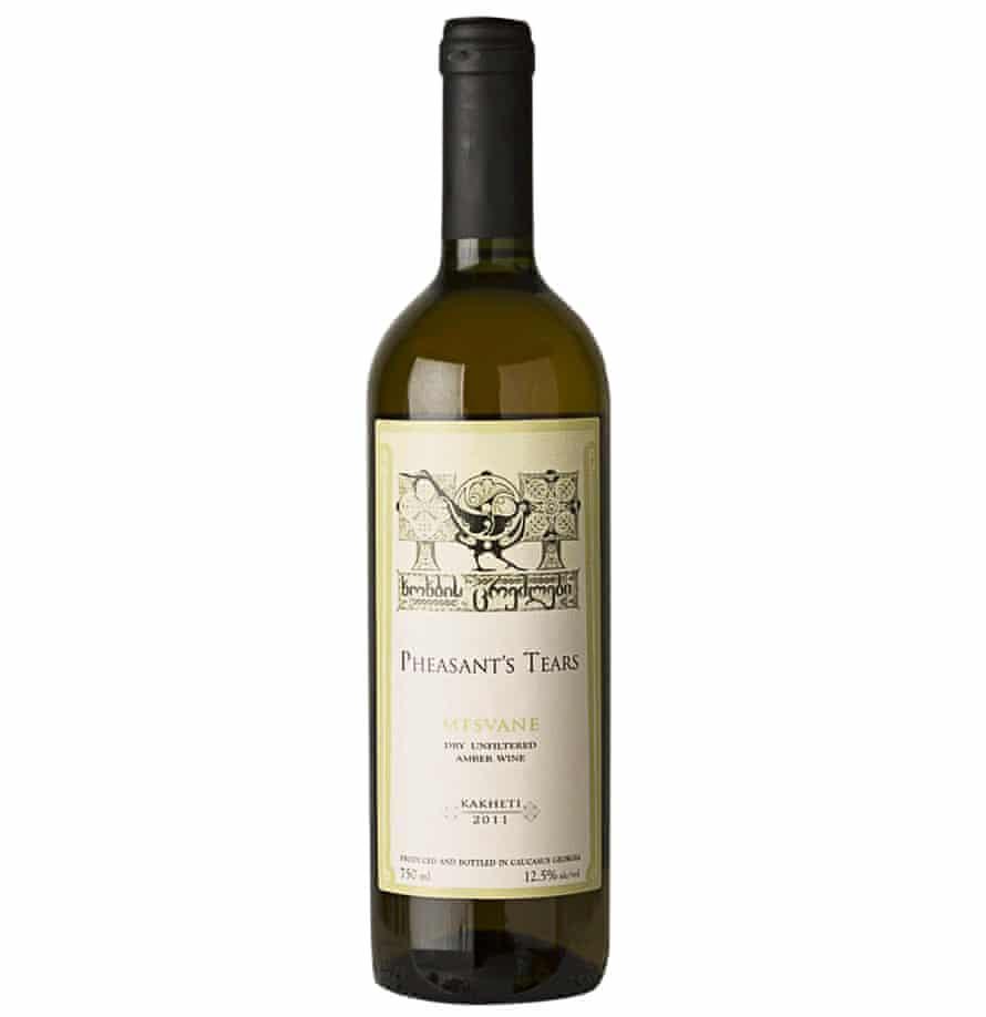 Georgian amber wine: Mtsvane Pheasant's Tears