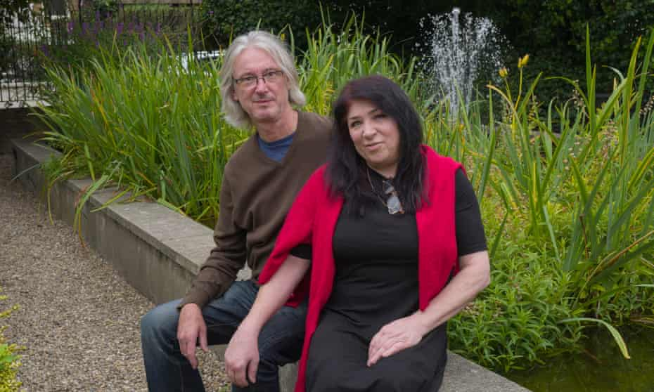 Debbie Gould and her partner, Jerry, in Hackney. Gould is leaving London for Norfolk.
