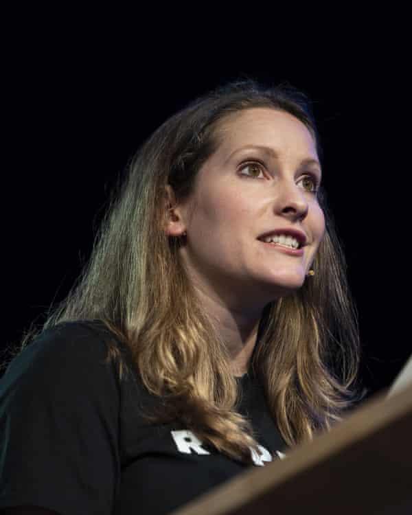 Laura Bates at the Hay festival.