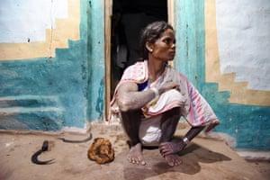 Ujiyaro Bai, 36, who lives in Pondi Village in Baiga Chak