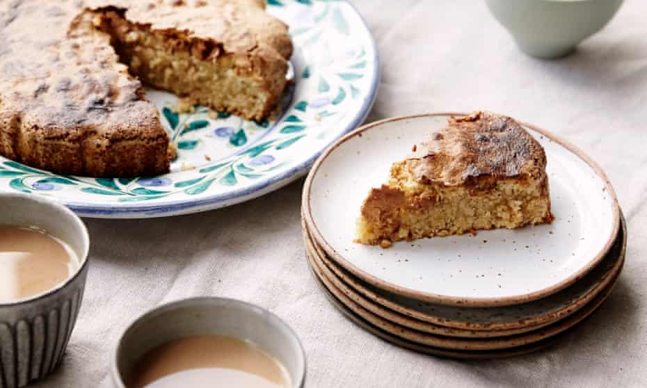 Hazlenut cake: 'as suited to elevenses as it is to a brew in the afternoon or to a pudding after dinner.'