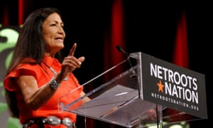 Deb Haaland speaks at Netroots Nation in New Orleans.