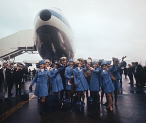 January 1970. The giant Boeing 747 Jumbo jet airliner of Pam American airlines seen after just arriving at Heathrow Airport for the first time. Passengers included Pam Am employees and FAA officials. The first fare paying passengers included Pam Am employees and FAA officials, The first fare paying passenger service will be starting on 21st January