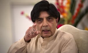 Chaudhry Nisar Ali Khan, Pakistan's interior minister