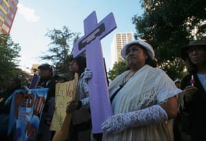 Women take part in a rally against abuse and domestic violence in La Paz November 25, 2011, Bolivia