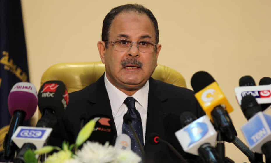 Magdi Abdel Ghaffar at press conference