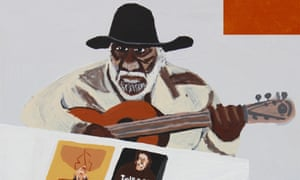 Artist and stockman Kunmanara Jimmy Pompey, as painted by Vincent Namatjira.