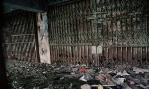 An abandoned building along Jalan Pintu Besar Selatan in the Chinatown of Glodok in West Jakarta, Indonesia