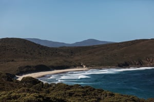 Lighthouse Bay in South Bruny National Park, Tasmania