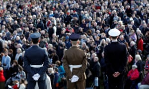 Armistice Day service at the National Arboretum.