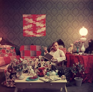 Truman Capote in his apartment in Brooklyn Heights, New York, 1958.