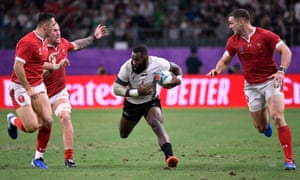 Fiji???s wing Semi Radradra runs with the ball.