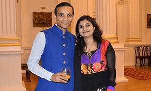 Sheeraj Laturia and his wife Rajshree were named as one of 2015's top 100 Asian power couples