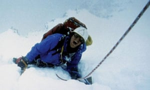 Joe Simpson's fateful climb re-created in the film Touching the Void.