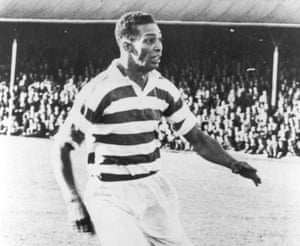 Gil Heron playing for Celtic in 1951.