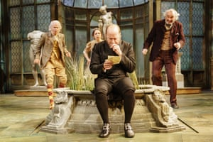 Country house re-creation … Adrian Edmondson, centre, as Malvolio in Twelfth Night.