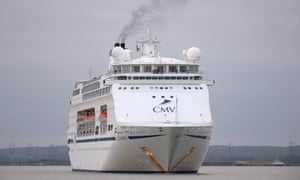 CMV vessel Columbus returns early from a world cruise during the coronavirus crisis.