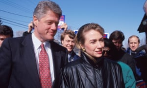 Hillary Clinton campaigning with her husband's 1992 presidential campaign in New Hampshire.