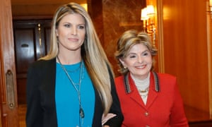 Temple Taggart and Gloria Allred at a press conference in Utah.