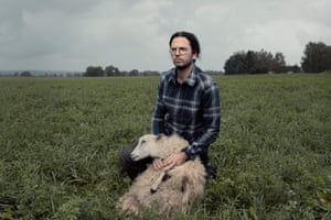 City-boy-turned-sheep-whisperer Axel Lindén photographed for the magazine.