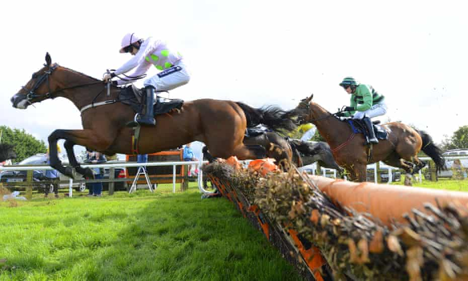 Stock image of horse racing