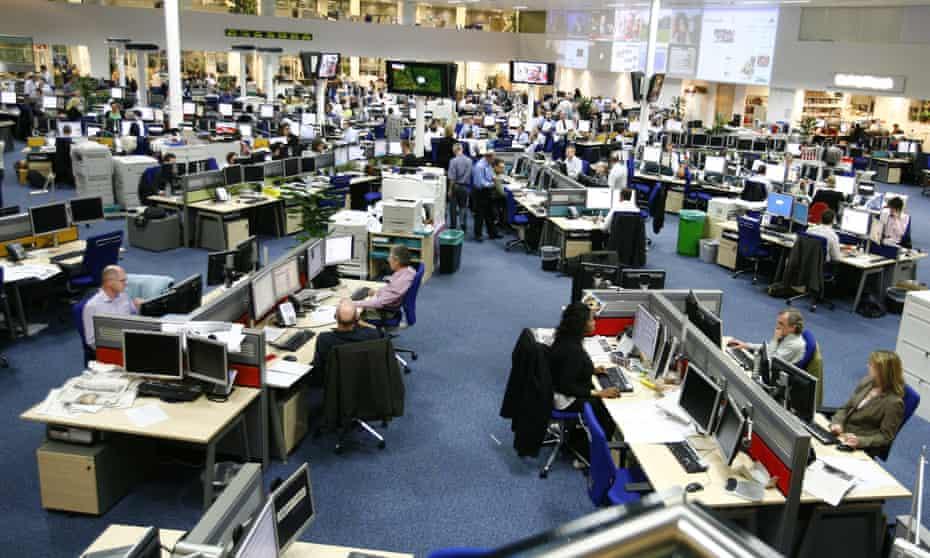 The Daily Telegraph newsroom.