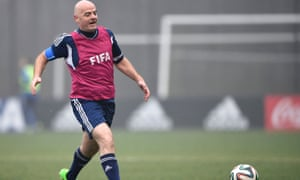Newly-elected Fifa president Gianni Infantino pursues the ball at a specially-arranged game on Monday, but he says he will not be chasing money.