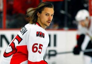 Erik Karlsson: not impressed.