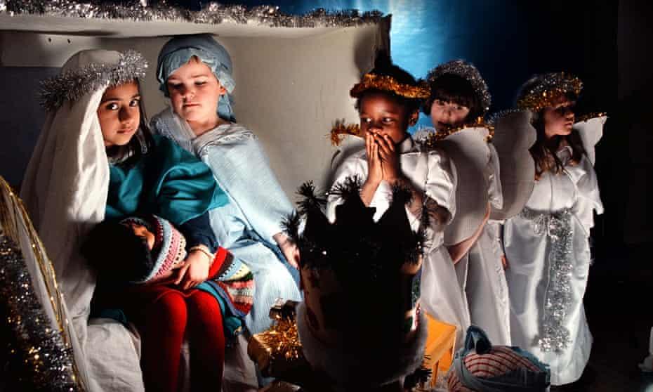 Nativity play at Tollcross Primary School in Edinburgh.