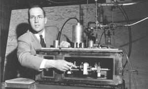 Charles Townes with his maser, the forerunner to the laser.