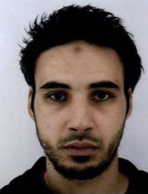 Image of suspect Chérif Chekatt released by French police.