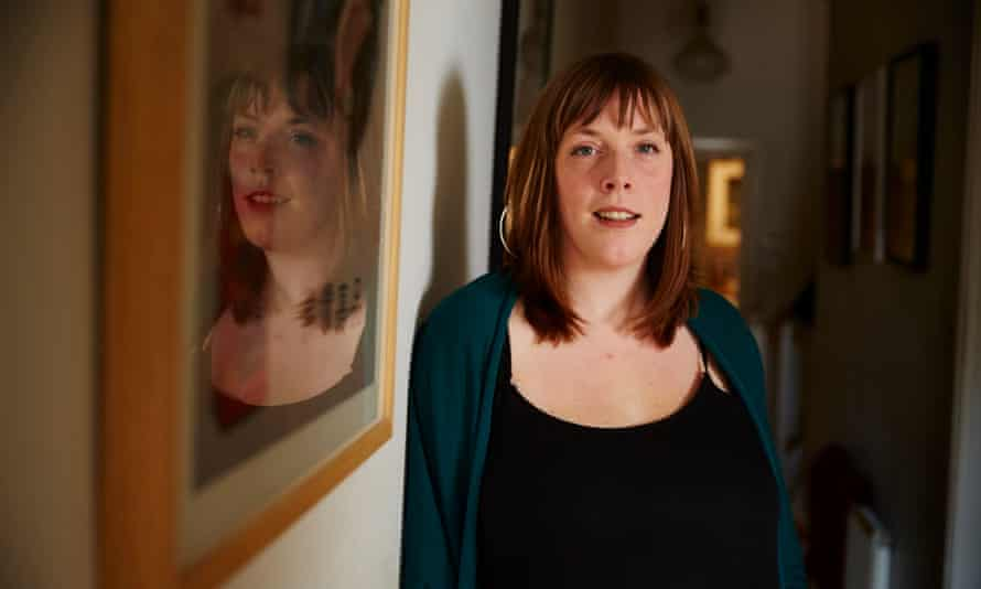 Jess Phillips at her family home in Birmingham.