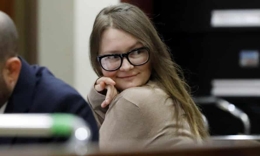 On trial ... Anna Sorokin, who went by the name of Delvey, in New York State supreme court, March 2019.