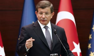 Turkish prime minister Ahmet Davutoğlu in Brussels