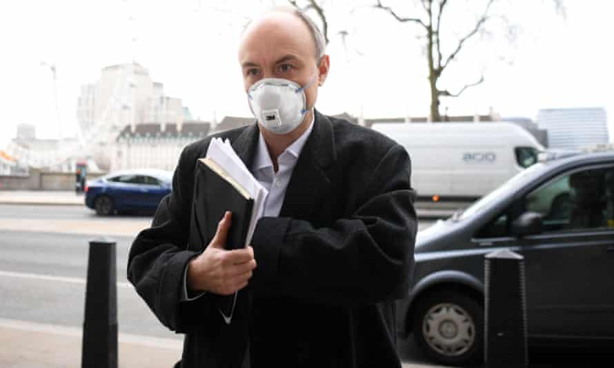 Dominic Cummings arrives at Portcullis House for a hearing of the science select committee on Wednesday.