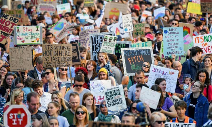 Global climate strike protest in Edinburgh, September 2019.
