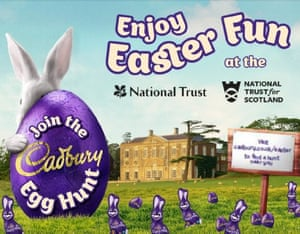 Cadbury's poster promoting its egg hunt