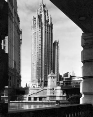 Winner … an early shot of Tribune Tower, created by Raymond M Hood and John Mead Howells.