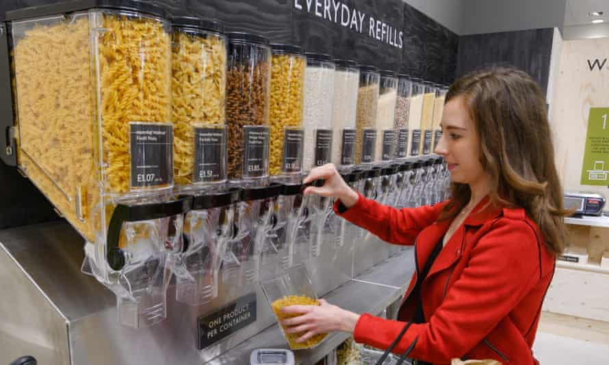 """The """"refill station"""" at the Waitrose supermarket in Oxford."""