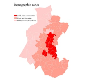 Demographic zones in Oldham West and Royton