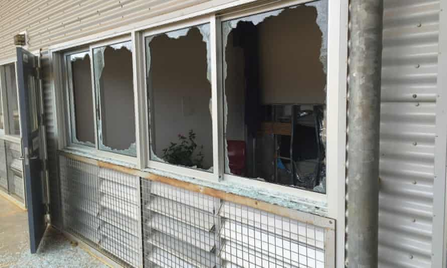 Some of the damage caused at the Christmas Island immigration detention centre disturbance.