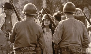 A protest about the Vietnam war outside the 1968 Democratic convention in Chicago