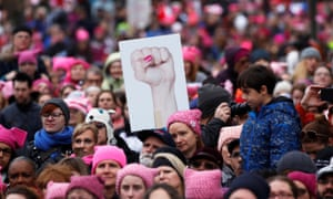 An estimated 4.5 million people attended the Women's March in Washington on 21 January.