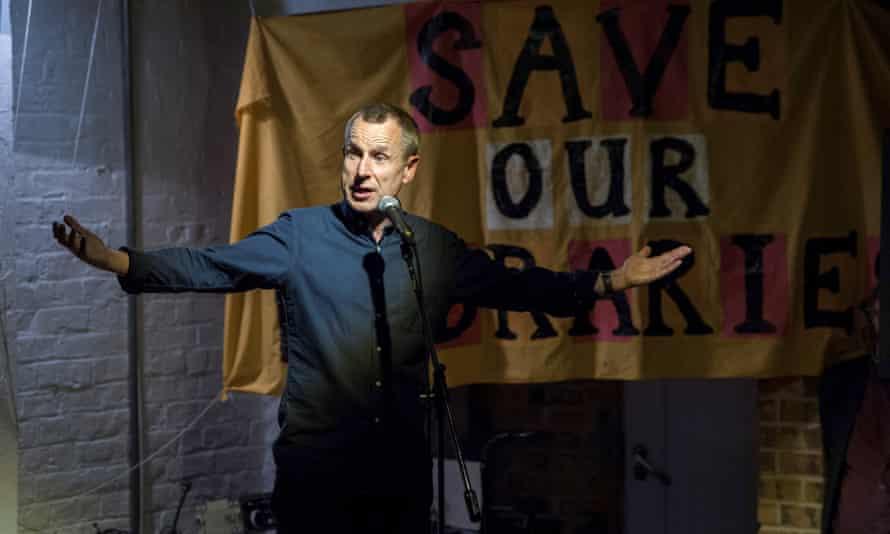 Jeremy Hardy on stage