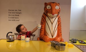 Kasia's son Louis with The Tiger Who Came to Tea.