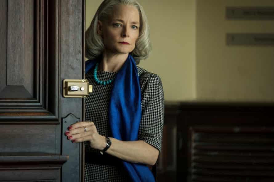 Jodie Foster as Nancy Hollander, Slahi's lawyer, in the film.